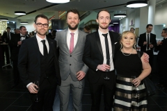 Press Eye - Belfast - 7th December 2017 -   Luke Douglas, Vince Kearney, Andrew Cunningham and Joanne Hartin pictured at the UTV Business Eye Awards in association with Emirates at the Belfast Waterfront.  Photo by Kelvin Boyes / Press Eye