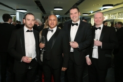 Press Eye - Belfast - 7th December 2017 -   Conor Mills, Mark Singh, Mark Groves and Mark Beesley pictured at the UTV Business Eye Awards in association with Emirates at the Belfast Waterfront.  Photo by Kelvin Boyes / Press Eye