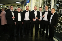 Press Eye - Belfast - 7th December 2017 -   Staff from CGDM Construction pictured at the UTV Business Eye Awards in association with Emirates at the Belfast Waterfront.  Photo by Kelvin Boyes / Press Eye