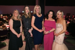 Press Eye - Belfast - 7th December 2017 -   Orlaith McGrath, Sarah McGinley, Caroline Wilson, Claire Trainor and Ciara Donnelly pictured at the UTV Business Eye Awards in association with Emirates at the Belfast Waterfront.  Photo by Kelvin Boyes / Press Eye