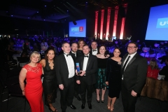 Press Eye - Belfast - 7th December 2017 -   Staff from Musgrave pictured at the UTV Business Eye Awards in association with Emirates at the Belfast Waterfront.  Photo by Kelvin Boyes / Press Eye