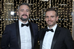 22 November 18, Mandatory Credit ©Press Eye/Darren Kidd    Peter Savage and Sean Larkin pictured at the Business Eye First Trust Bank Business Awards at the Belfast Waterfront.