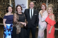 22 November 18, Mandatory Credit ©Press Eye/Darren Kidd    Ruth Flood, Paula Quigley, Kieran Kelly, Naomh McElhatton and Caroline Feeney pictured at the Business Eye First Trust Bank Business Awards at the Belfast Waterfront.