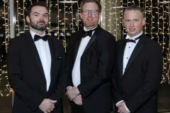 22 November 18, Mandatory Credit ©Press Eye/Darren Kidd    Graham Holt, Oliver Hughes and James Beattie pictured at the Business Eye First Trust Bank Business Awards at the Belfast Waterfront.