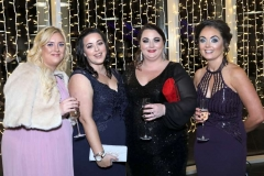 22 November 18, Mandatory Credit ©Press Eye/Darren Kidd    Leanne Hayle, Stacey Cairns, Leanne Murray and Jackie Surgenor pictured at the Business Eye First Trust Bank Business Awards at the Belfast Waterfront.