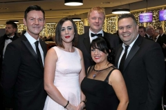 22 November 18, Mandatory Credit ©Press Eye/Darren Kidd    Ron Whitten, Kristine Moore, Gillian Kelly, Craig Roberts and Darren Nickels pictured at the Business Eye First Trust Bank Business Awards at the Belfast Waterfront.
