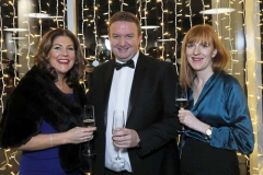 22 November 18, Mandatory Credit ©Press Eye/Darren Kidd    Michelle Hatfield, Stephen Patton and Laura Duggan pictured at the Business Eye First Trust Bank Business Awards at the Belfast Waterfront.