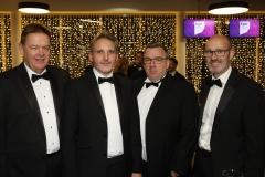 28 November 2019 Photo by Darren Kidd / Press Eye.    AIB Buisness Eye Awards 2019: Pictured are (L-R) Drew Graham, Dean Uprichard, James Gilmore and John Cunningham