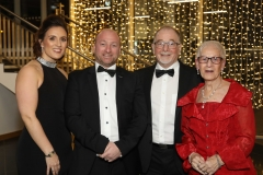 28 November 2019 Photo by Darren Kidd / Press Eye.    AIB Buisness Eye Awards 2019: Pictured are (L-R) Natasha, Aaron, Ignatius and Pat McGreevy