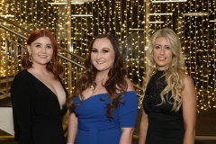 28 November 2019 Photo by Darren Kidd / Press Eye.    AIB Buisness Eye Awards 2019: Pictured are (L-R) Aveen Stewart, Charlotte Clarke and Samantha Kirk.