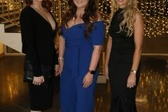 28 November 2019 Photo by Darren Kidd / Press Eye.    AIB Buisness Eye Awards 2019: Pictured are (L-R) Aveen Stewart, Charlotte Clarke and Samantha Kirk.