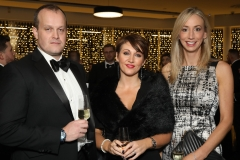 28 November 2019 Photo by Darren Kidd / Press Eye.    AIB Buisness Eye Awards 2019: Pictured are (L-R) 8. Richard Moorehead, Sarah Orange and Vicky Dummigan.