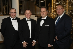 28 November 2019 Photo by Darren Kidd / Press Eye.    AIB Buisness Eye Awards 2019: Pictured are (L-R) Davy Jackson, Tony McKeown, Peter Melarkey and Peter Mcverry.