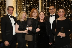 28 November 2019 Photo by Darren Kidd / Press Eye.    AIB Buisness Eye Awards 2019: Pictured are (L-R)  Peter Cunningham, Mary Doherty, AnneMarie McGrade, Emma Phillips, Shay Lam and Gemma Padden