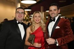 28 November 2019 Photo by Darren Kidd / Press Eye.    AIB Buisness Eye Awards 2019: Pictured are (L-R) Andrew Dickinson, Tori Dickson and Aidan Larkin.