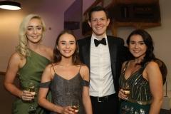 28 November 2019 Photo by Darren Kidd / Press Eye.    AIB Buisness Eye Awards 2019: Pictured are (L-R) Michaela Kilpatrick, Sally Flaherty, Ben Fraser and Louise McCaffrey.