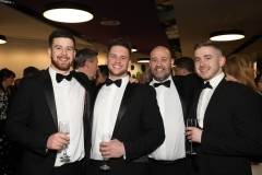 28 November 2019 Photo by Darren Kidd / Press Eye.    AIB Buisness Eye Awards 2019: Pictured are (L-R) Patrick Campbell, Marcus Nelson, Shaun Ciulter and Eoghan Hampsey
