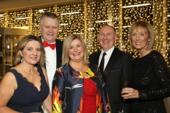 28 November 2019 Photo by Darren Kidd / Press Eye.    AIB Buisness Eye Awards 2019: Pictured are (L-R) Mary Jo McCanny, Garry McDonald, Maurica Mackle, Gerry Lennon and Anne McMullan.